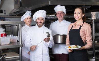Team of restaurant staff
