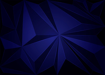 Dark blue low poly template. An elegant bright illustration with gradient. A completely new template for your business design.
