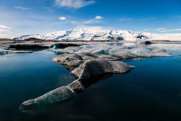 Keuken foto achterwand Gletsjers jokulsarlon glacier lagoon landscape, Iceland