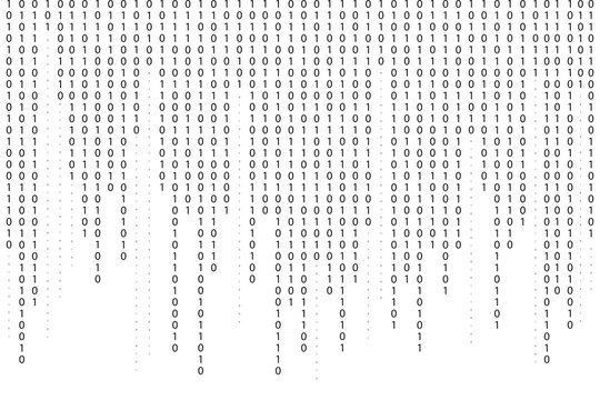 Binary code background. Falling, streaming binary code background. Digital technology wallpaper