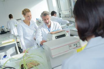 Busy laboratory