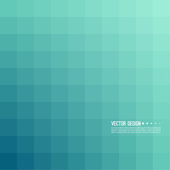 Abstract background with rhythmic overlapping squares. Transition and gradation of color. Vector blend gradient for illustrations, covers and flyer. Color turquoise, blue.