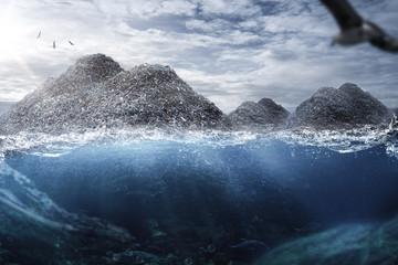 Müllberge verdrecken den Ozean