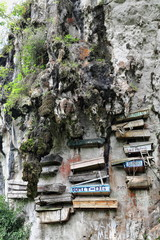 Hanging coffins of the Igorot indigenous people. Sagada-Mountain province-Philippines. 0230