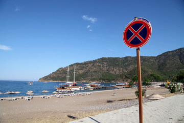 Adrasan Bay Beach in Antalya, Turkey