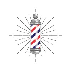 Barbershop sign isolated.