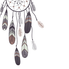 Vector background with dream catcher.
