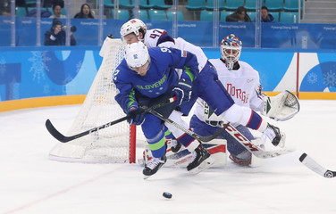 Olympics: Ice Hockey-Men Team Qualification Match for Quarterfinal - SLO-NOR