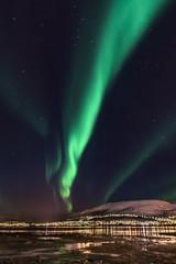 Aurora Borealis (northern lights) in North Norway - Tromso City