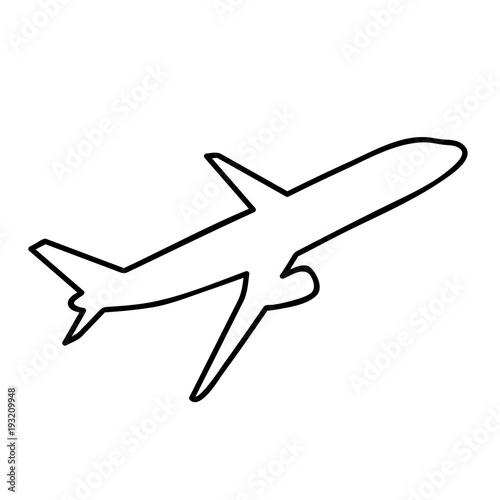Ausmalbild Flugzeug Hebt Ab Stock Image And Royalty Free