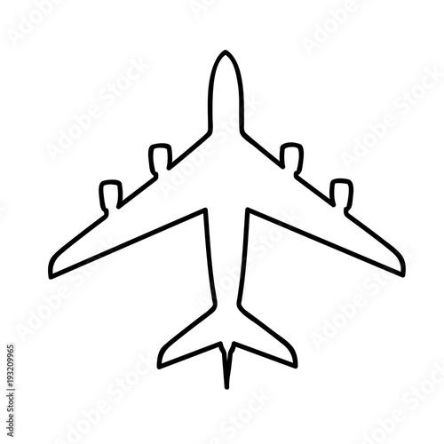 Ausmalbild Flugzeug Stock Image And Royalty Free Vector