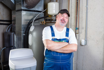 Confident workman or home installer