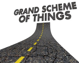 Grand Scheme of Things Road Destination Fate 3d Illustration