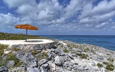 Quiet spot on Coco Cay island