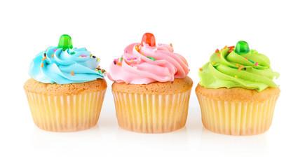 cupcake isolated on white background