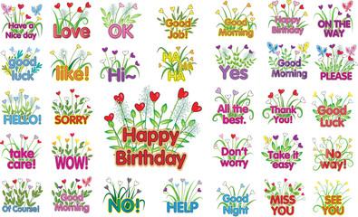 flower greeting card set