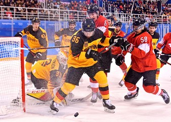 Olympics: Ice Hockey-Men Team Qualification Match for Quarterfinal - SUI-GER