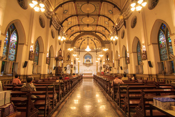 interior of Holy Rosary Church /  Wat Kalwa Church