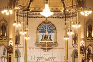 interior of Holy Rosary Church /  Wat Kalwa Church