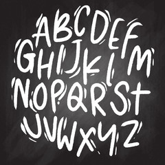 Vector handwritten brush script. letters isolated on background.doodle font.vector illustration.