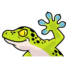 Cartoon Gecko Illustration