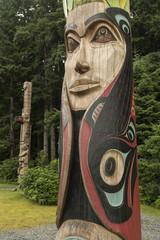 Totem poles in Sitka Nat Historical Park;  Sitka, Alaska
