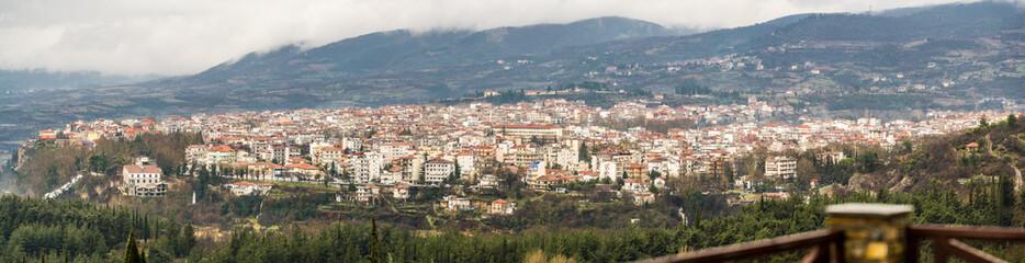 High resolution panorama of Edessa city, Greece, Europe