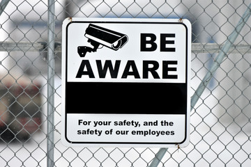 Video Surveillance Warning Sign