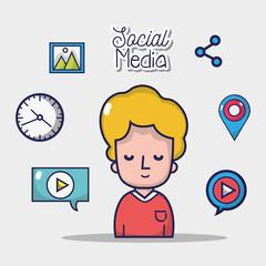set social media network connection