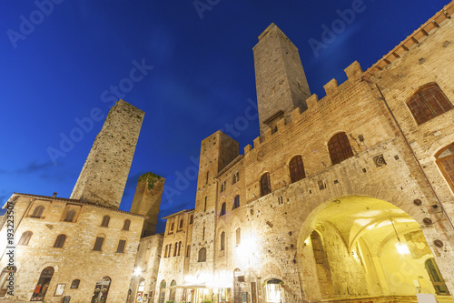 Fototapete San Gimignano Medieval Village,Tuscany, Italy, Europe
