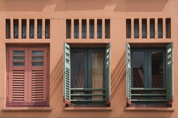 Chinatown window shutters