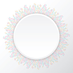 Technology sun from colore lines connections. Abstract information connectivity background. IT-development futuristic conception. Neural structure. Vector illustration