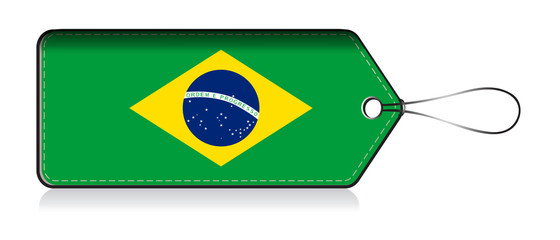 Brazillain flag lable, Label of product made in Brazil