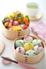 春のお弁当 手まり寿司 お花見弁当