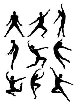 Male Dancer Silhouettes