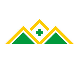 medical roof house medical medicare pharmacy clinic image vector icon