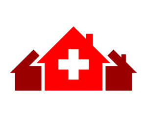 red house medical medicare pharmacy pharmacist clinic image vector