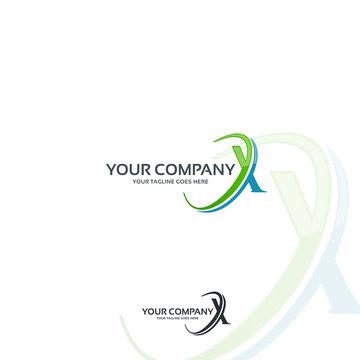 x company logo template