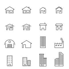 house line icon set vector illustration