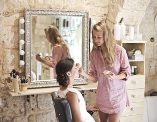 Make up at the hairdresser's