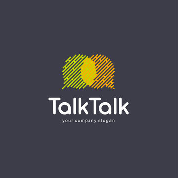 Abstract communication logo design elements. Chat logo, talking sms concept.