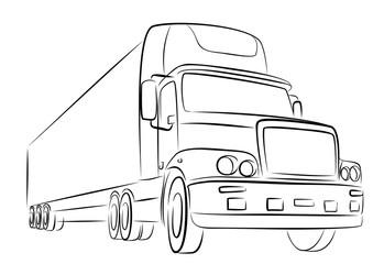Sketch of big truck.