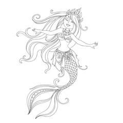 cartoon princess mermaid
