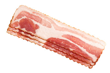 Bacon strips, top view, paths
