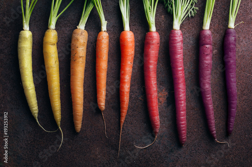 Colorful Yellow Orange And Purple Carrots