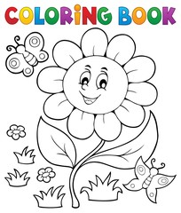 Canvas Prints For Kids Coloring book flower topic 6