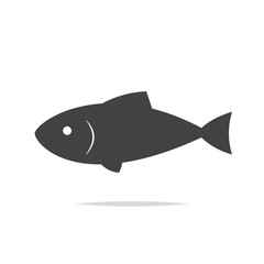 Fish icon vector isolated