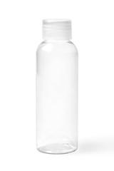 Closed Empty Transparent Plastic Bottle