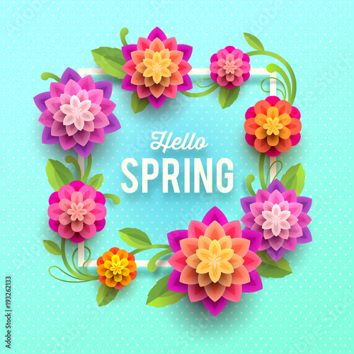 Spring greeting card with flowers stock image and royalty free spring greeting card with flowers mightylinksfo