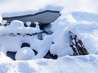 Stream under the ice